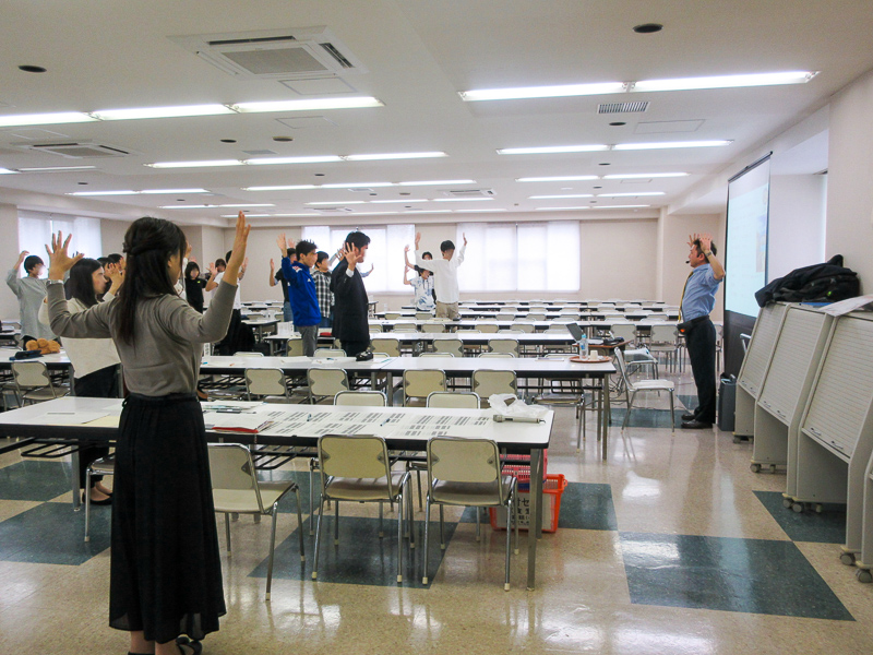 代表・小川清貴 都立高校の「健康講話」で授業